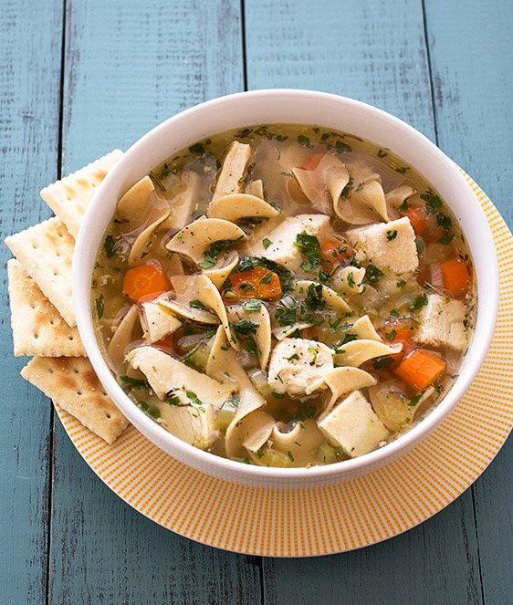 Slow Cooker Chicken Noodle Soup. Great comfort food