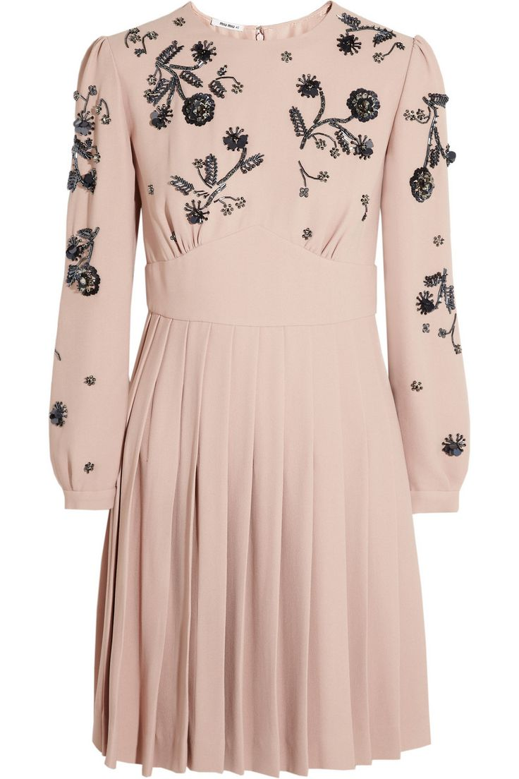 Miu Miu Embellished cady dress