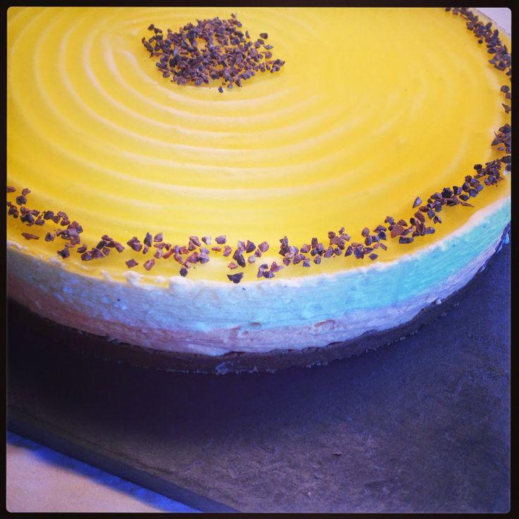 Louises Lækkerier: Appelsin-Cheesecake med bastognebund.