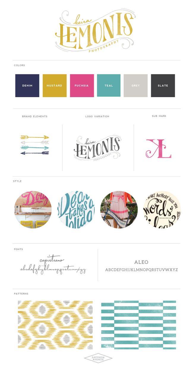 Logo Design :: Keira Lemonis Photography :: Saffron Avenue