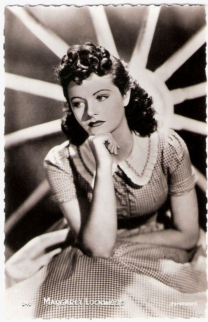 """Beautiful stage and film actress Margaret Lockwood (1916-1990) was the female lead of the early Hitchcock classic, """"The Lady Vanishes"""" (1938). In the 1940's she became Britain's leading box-office star specializing in beautiful but diabolical adventuresses."""