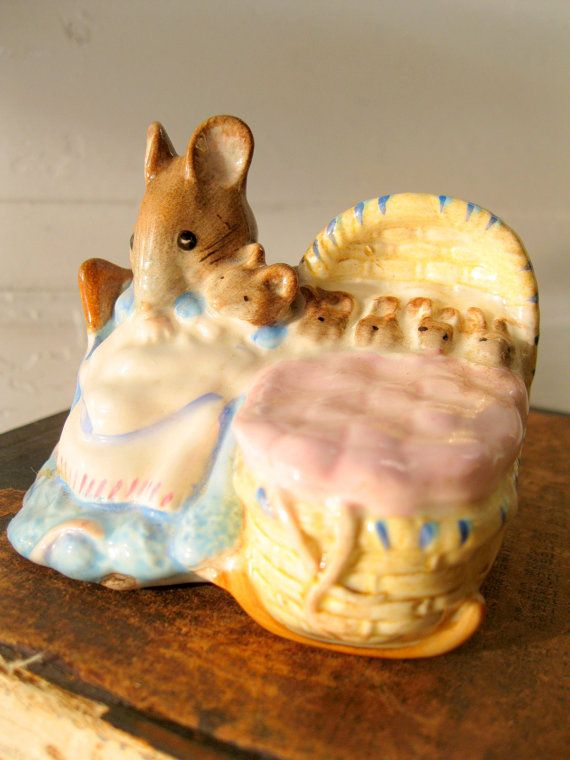 Beatrix Potter's Hunca Munca English Figurine Beswick by tessiemay, $38.00