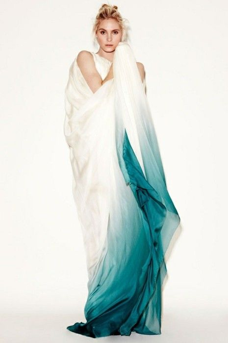 ombre wedding dress, blue wedding, teal, destination wedding