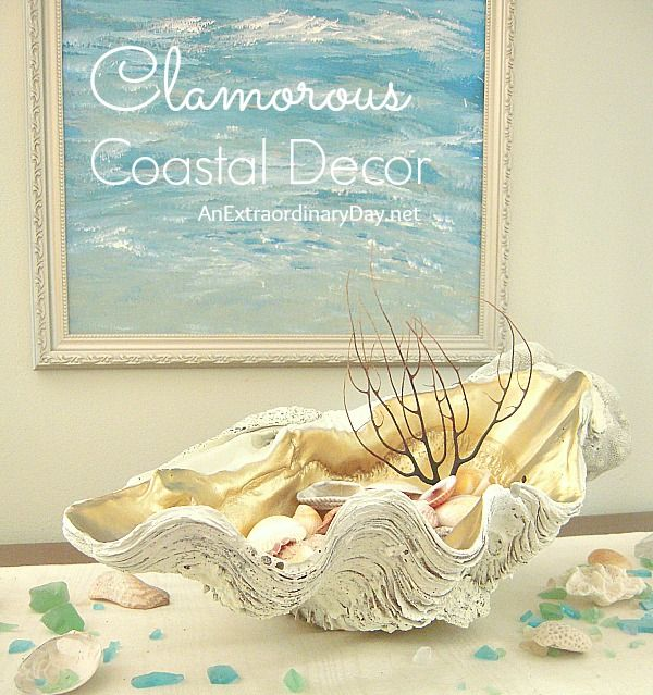 Clamorous Coastal Decor :: Creative Coastal Home Decor on the cheap.