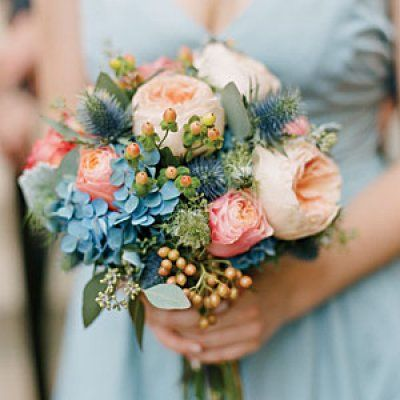 lovely blue hydrangea accents
