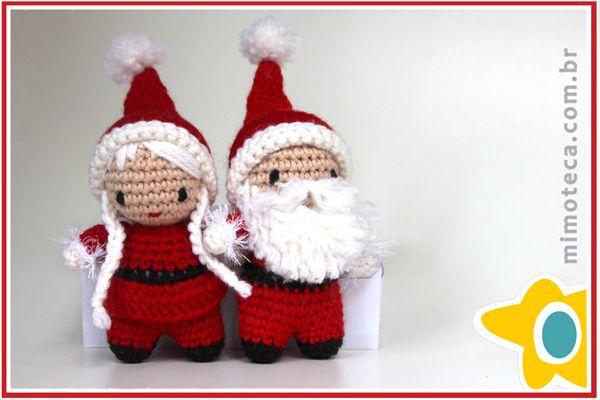 Casal Noel Mimoteca - emoção em arte Crochet Amigurumi Doll