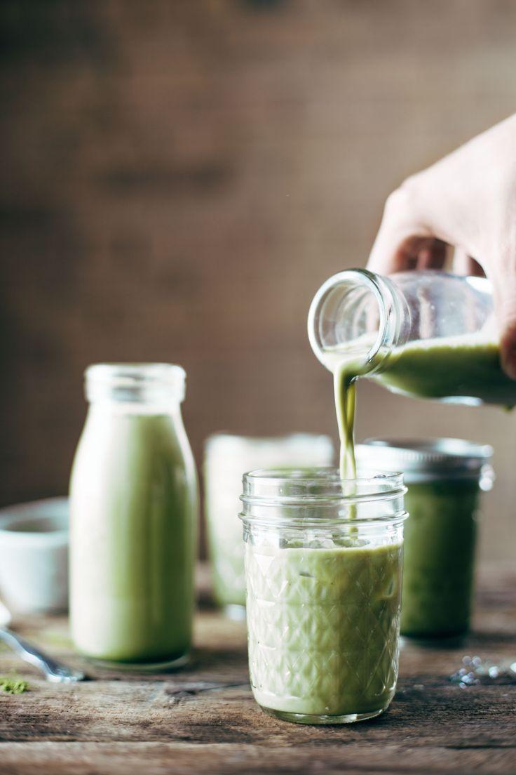 Iced Matcha Green Tea Latte with @Almond Breeze Almondmilk Unsweetened Vanilla. AD | pinchofyum.com