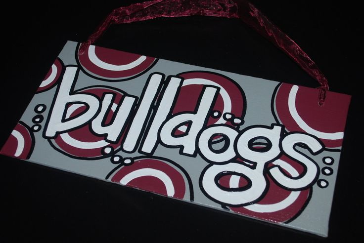 Mississippi+State+Bulldogs+canvas+board+6x12+by+sassifrassi,+$14.00