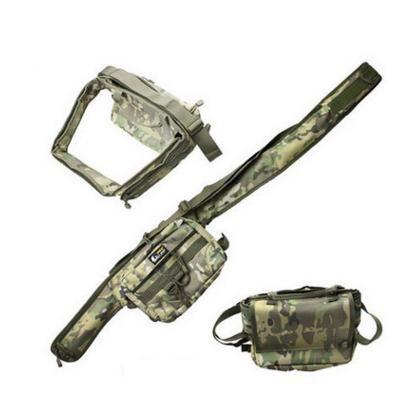 15*22*14cm Multi-Function Waterproof Fishing Rod Bag Outdoor Fishing Backpack Tackle Tool