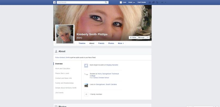 This is the FaceBook page operated by the fugitive harborer and scam accomplice Kimberly Smith Phillips