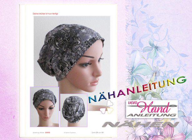 Nähanleitung Chemo Mütze Kopfbedeckung Größen S M L Chemo Mützen Kopfbedeckung Chemo Nähanleitung