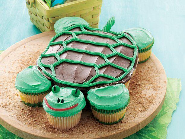 Pull-Apart Turtle Cupcakes: Turtle Cakes, Turtle Cupcakes, Turtles, Cupcake Cakes, Cupcakecake, Party Ideas, Birthday Cakes, Kid