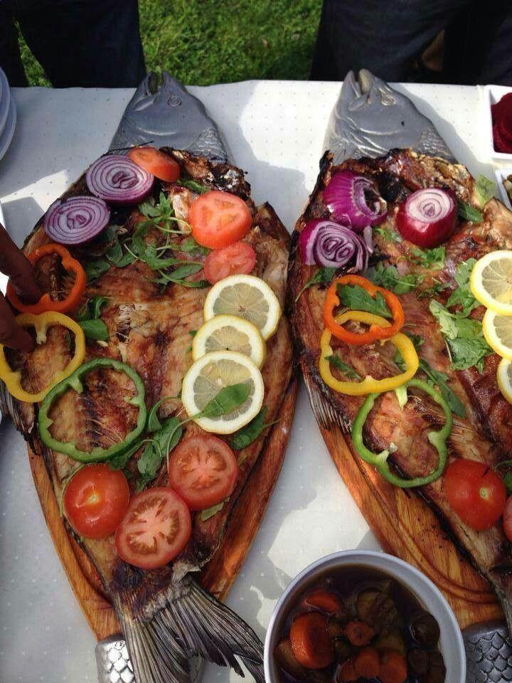 Iraqi barbecue fish السمك ألمسگوف العراقي | Iraqi food ...