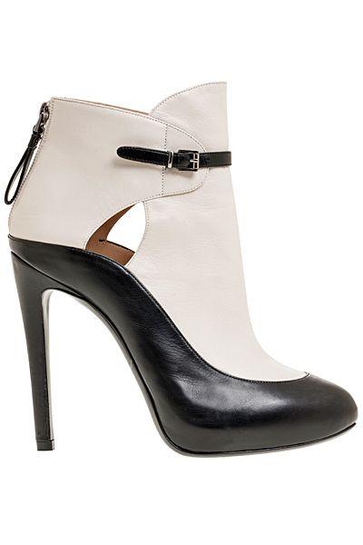 Giorgio #Armani Black & White Ankle Boots ,/ Dorothy Johnson