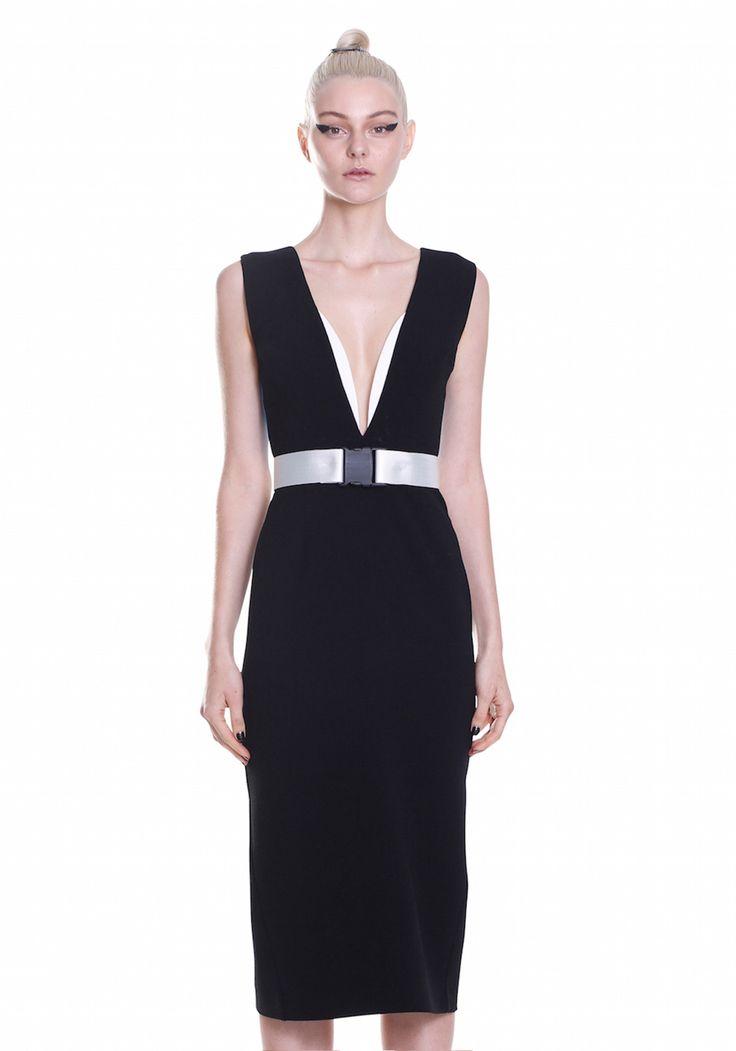 COLOUR BACK V-DRESS    #UNTITLED #BYJOHNNY #SUMMER2015 #AUSTRALIANFASHION
