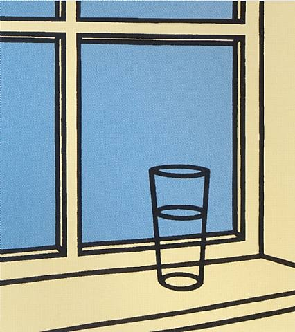 Patrick Caulfield, oh Helen, i roam my room, 1973