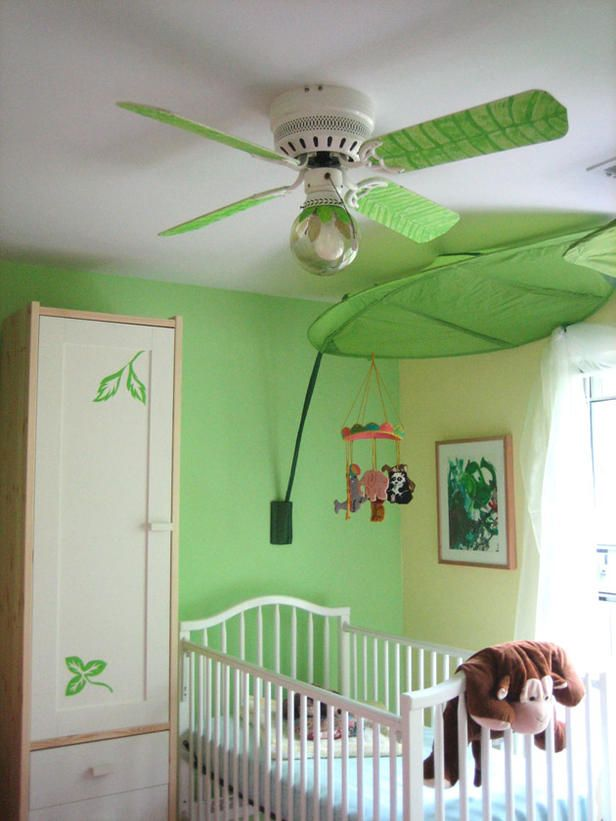 I Love The Leaf Painted Ceiling Fan And The Leaf Canopy.