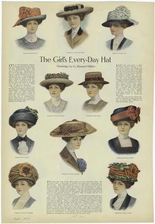 """""""Every-Day Hat"""" From """"Ladies' Home Journal"""", Published 1910."""