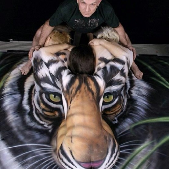 the tiger: Amazing Body, Body Paintings, Beautiful, Body Art, Tigers, Things, Bodypaint, Human Body, Bodyart