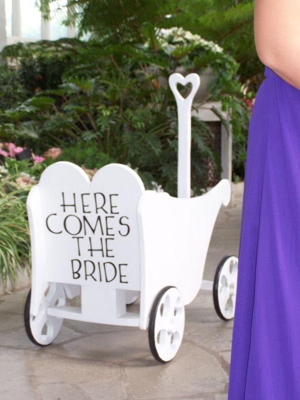 Small child in Wedding Wagon :  wedding baby ceremony wagon 396