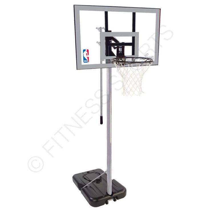 Spalding Silver acrylic basketball system 8ft-10ft