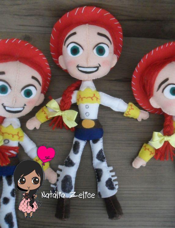 Natália Zelice Artes em Feltro: Jessie Toy Story 2ª versão