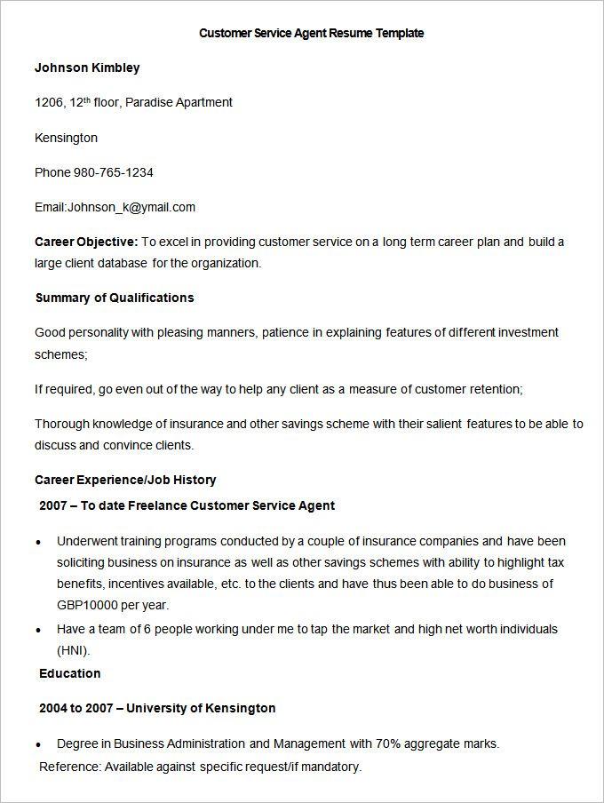 As 25 melhores ideias de Supervisor call center no Pinterest - sample resume for customer service rep