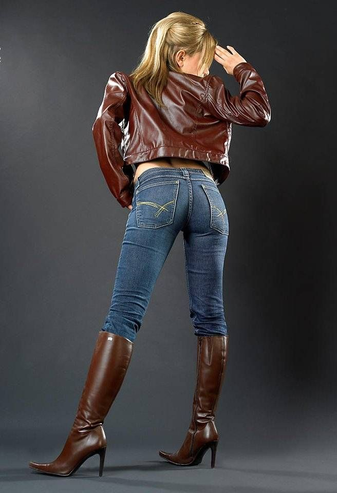 hot women in jeans and boots - photo #4