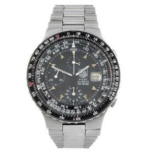 LOT:387 | TAG HEUER - a gentleman's stainless steel Pilot chronograph bracelet watch.