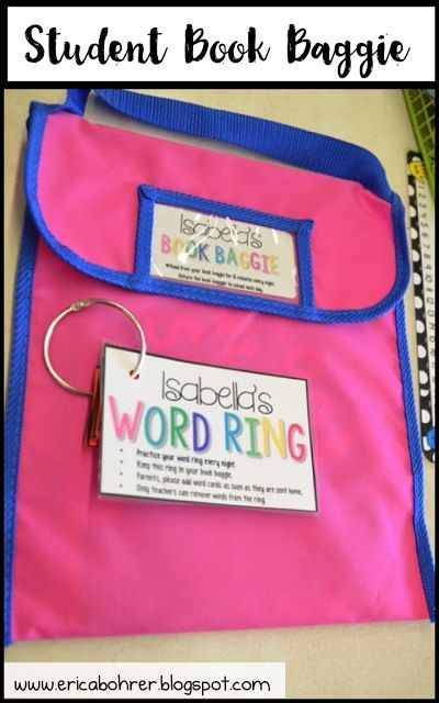 The Anatomy of a Book Baggie | Student book bagies for independent reading.  Free labels and word ring labels included in this post.