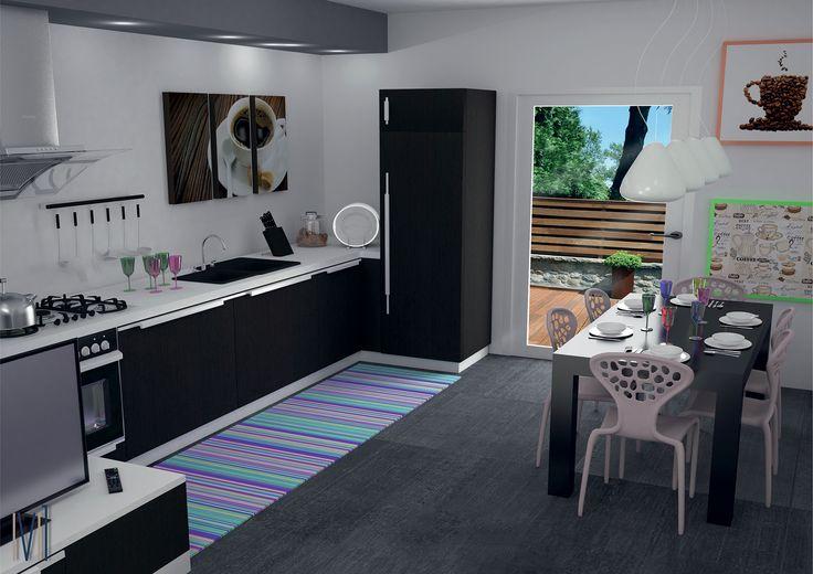 Modern kitchen #13seven #interiordesign #homedesign #arredamentointerni #interiordecoration #furniture #homedecoration #kitchen #lovekitchen #kitchendesign #cucina #passionkitchen