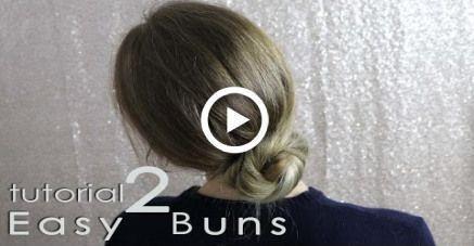 2 einfache Brötchen für Schule oder Arbeit - alltägliche Frisuren #Frisuren #Einfache Frisuren - #Einfache Frisuren #Täglich - #al