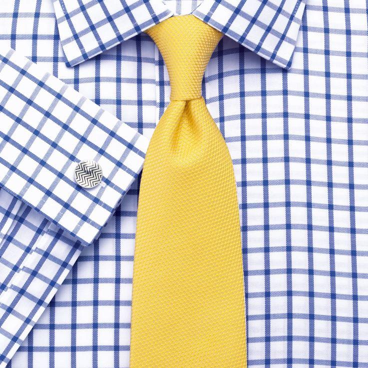Royal twill grid check non-iron classic fit shirt | Men's dress shirts from Charles Tyrwhitt |