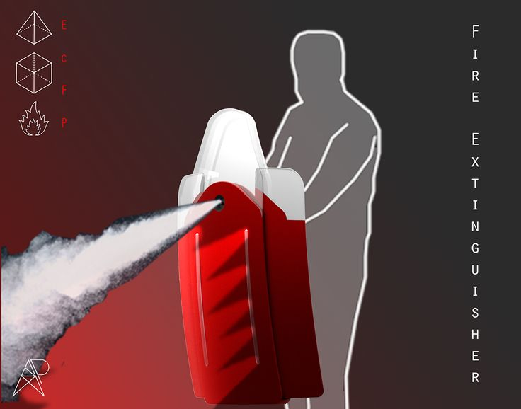 Fire Extinguisher concept by Aydin Polozani on Behance #fire #fireextinguisher #design #industrialdesign #product #productdesign #red