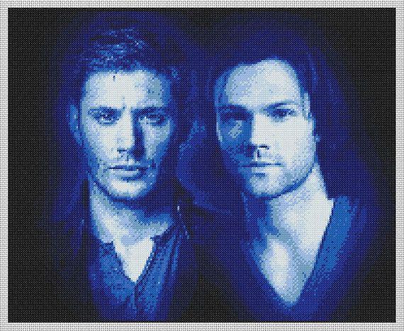 Supernatural Sam and Dean Winchester Portrait by 1Rainbowsparkle, £3.00