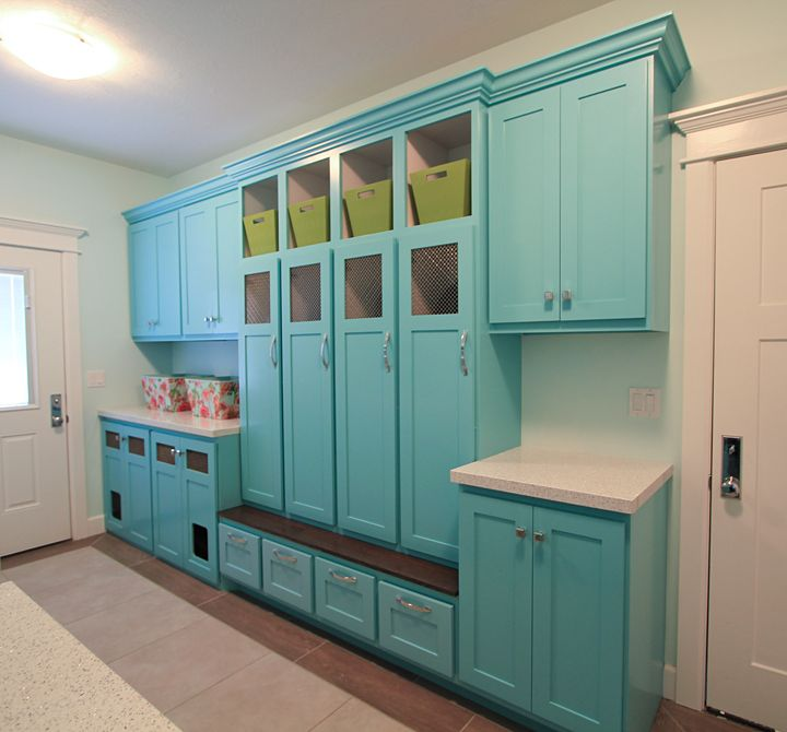 Turquoise Mudroom | Design Hintz Part 75