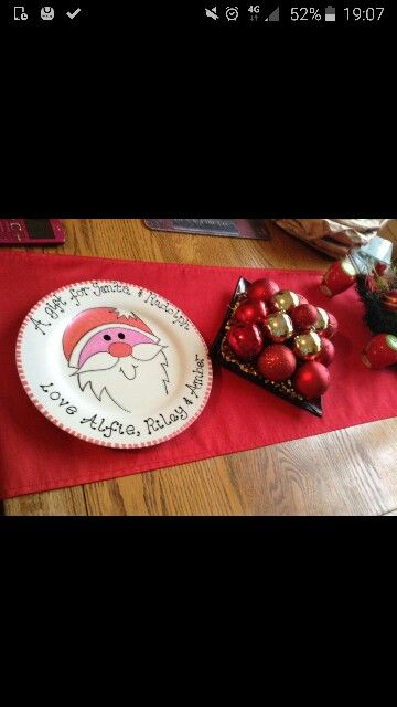 Christmas painted plate..