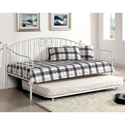 Red Barrel Studio Donaldson Transitional Daybed Finish: White