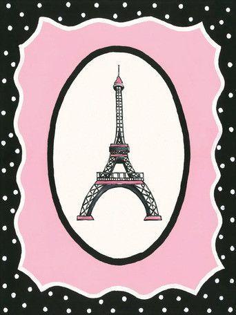 Oui Paris Eiffel Tower Canvas Art