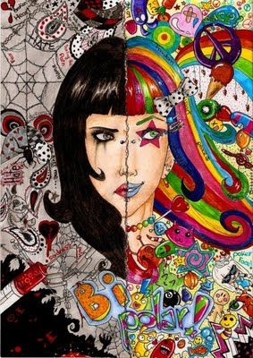Bipolar...wow...they couldn't describe it any better than this art work does