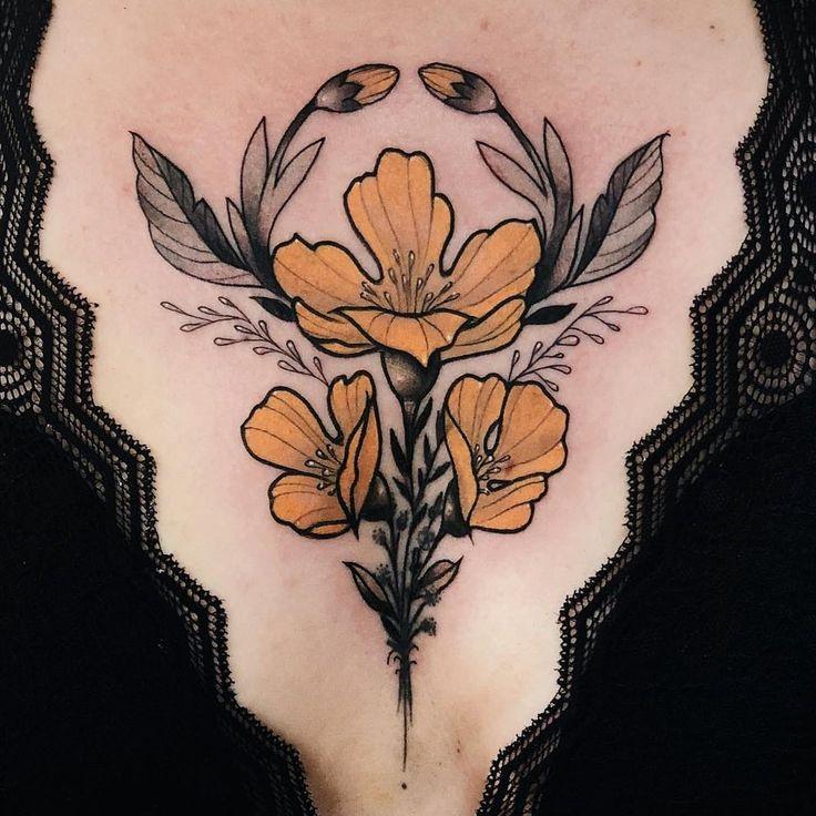 Art Nouveau Flower Tattoo Gis: Where Nouveau And Deco Meet: Neo Traditional Tattoos