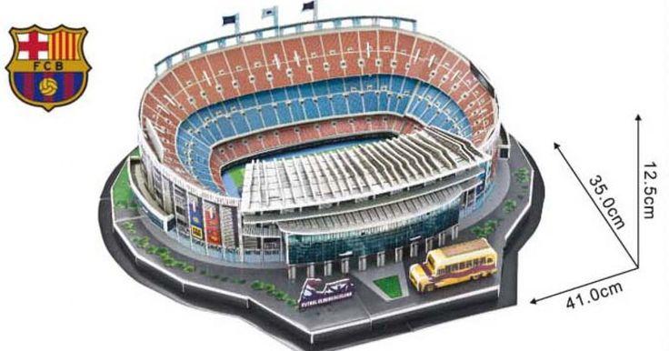 3D Football Field DIY Barcelona Nou Camp Stadium Model Scenes Jigsaw Puzzles