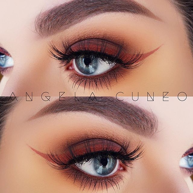 "Shot of espresso.  @morphebrushes 35N palette  @nyxcosmetics brow and eye pencil  @anastasiabeverlyhills ""Ashton"" liquid lipstick (liner)  @anastasiabeverlyhills dip brow ""Taupe""  @amazingcosmetics_official brow powder ""Brow 03"" & amazing concealer ""light honey""  @hypnaughtylashes ""Seduction"" lashes  @nyxcosmetics brow mascara ""brunette"""