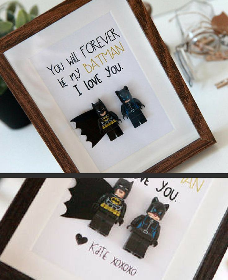 Personalized Lego Shadowbox - You Will FOREVER Be My Batman Gift ...