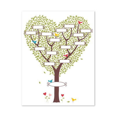 Sweetly Nested - printable family tree template for My Digital Studio