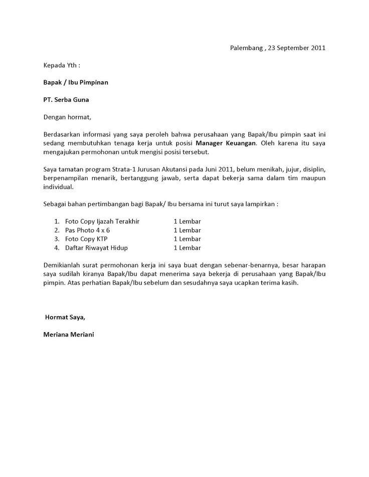 Kumpulan Surat Lamaran Kerja Pilihan yang Bisa Kamu Jadikan Referensi