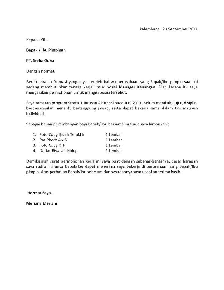 Buktikan 3 Contoh Surat Lamaran Kerja Bahasa Inggris Terbaik English Admin