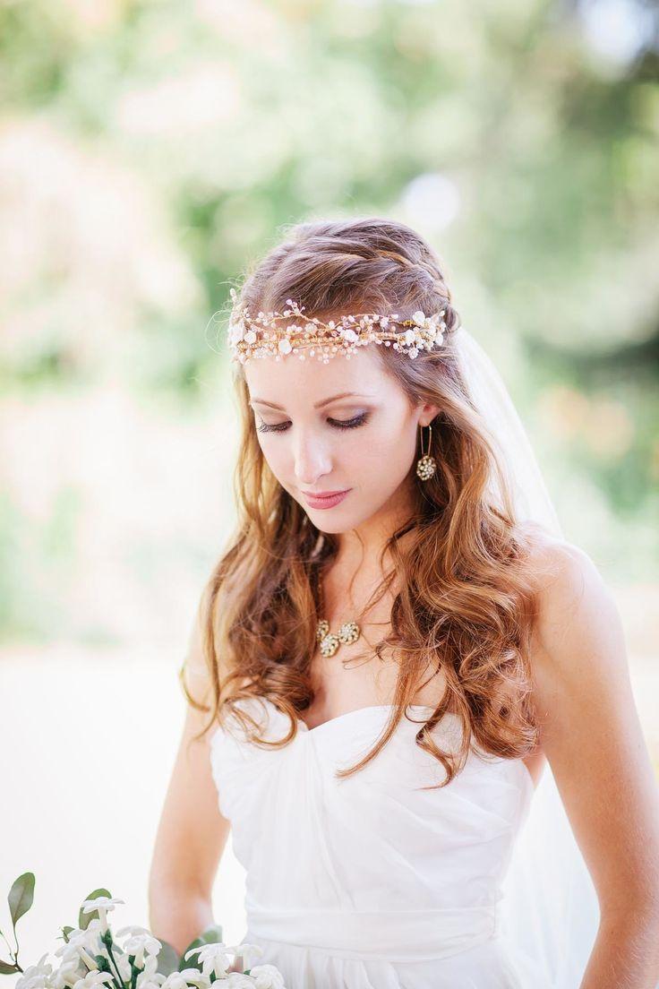 2014 Wedding Trends | Floral Crowns | We love this jewel floral crown