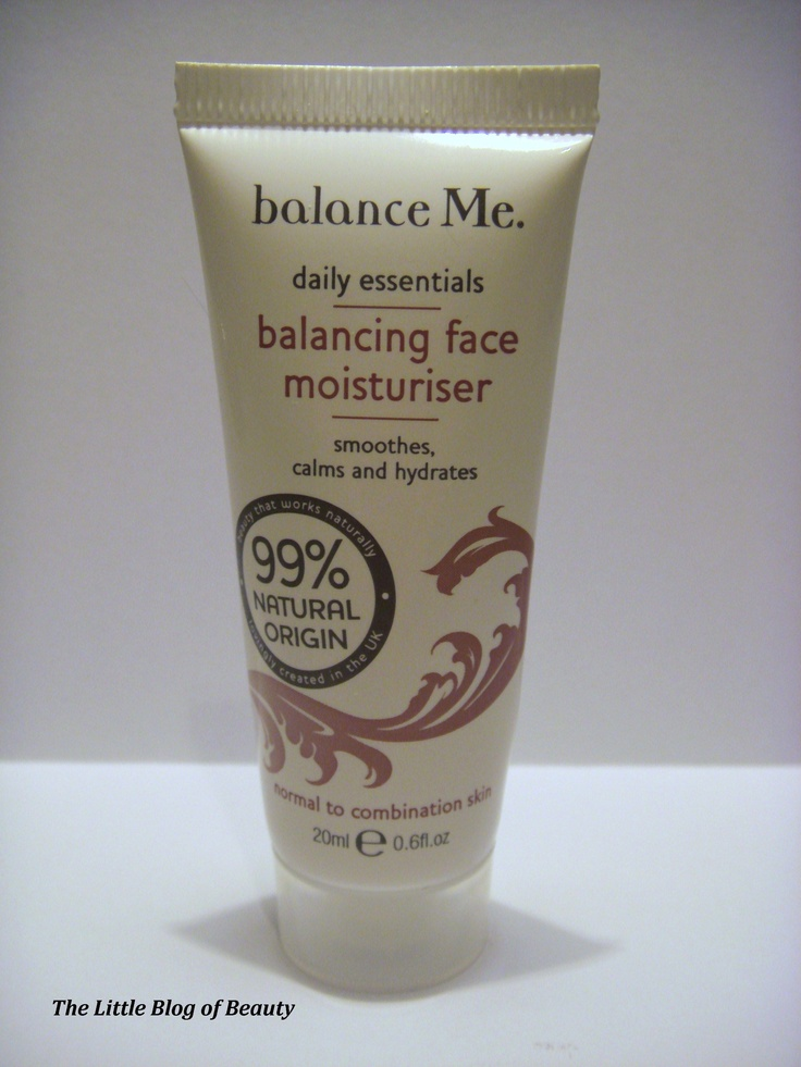 Balance Me Balancing Face Moisturiser - http://thelittleblogofbeauty.tumblr.com/post/38872630936/balance-me-balancing-face-moisturiser
