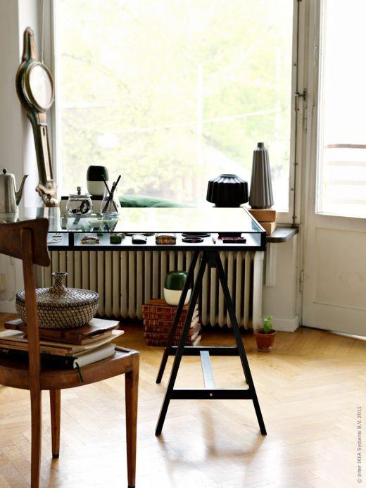 Skrivbord glas